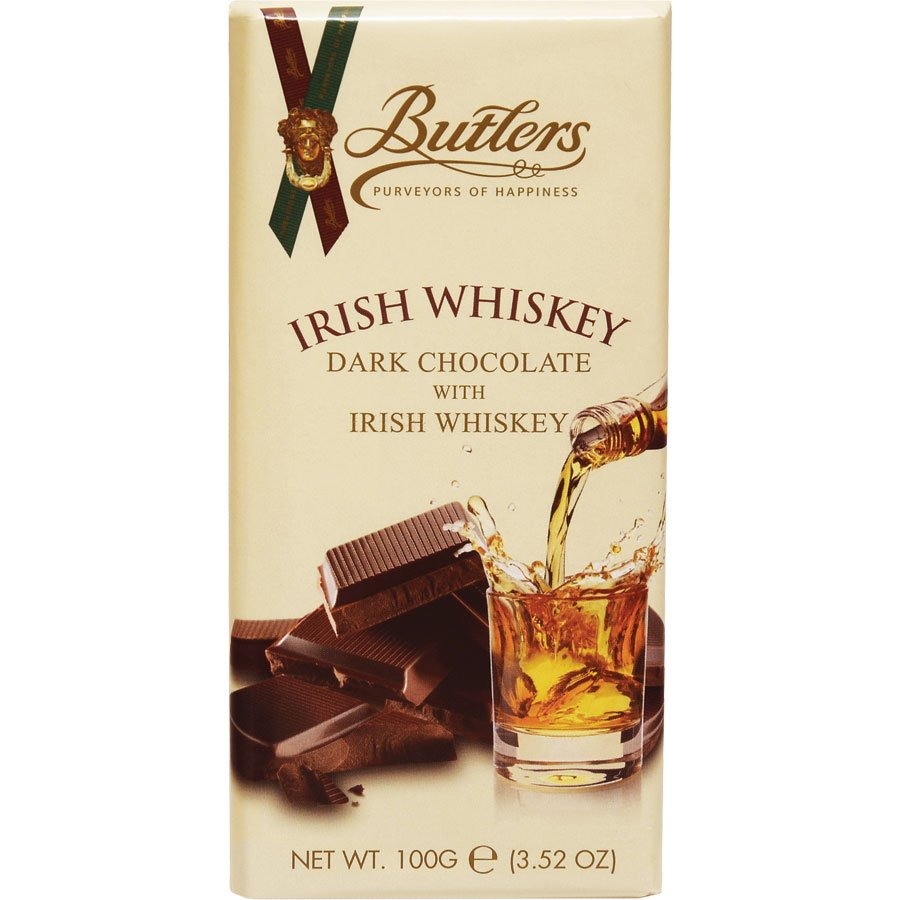 Butlers Dark Chocolate With Irish Whiskey Tablet Bar (3.52 Oz)