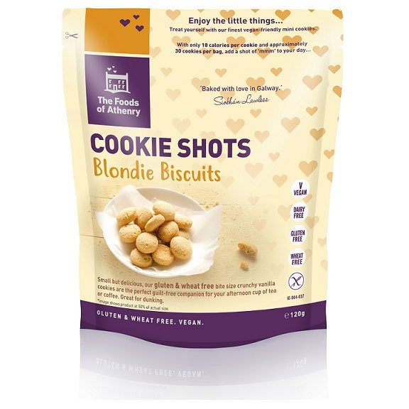 The Foods of Athenry Cookie Shots - Blondie Biscuits