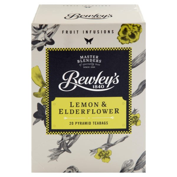 Bewley's Lemon & Elderflower Pyramid Teabags – 20 Ct