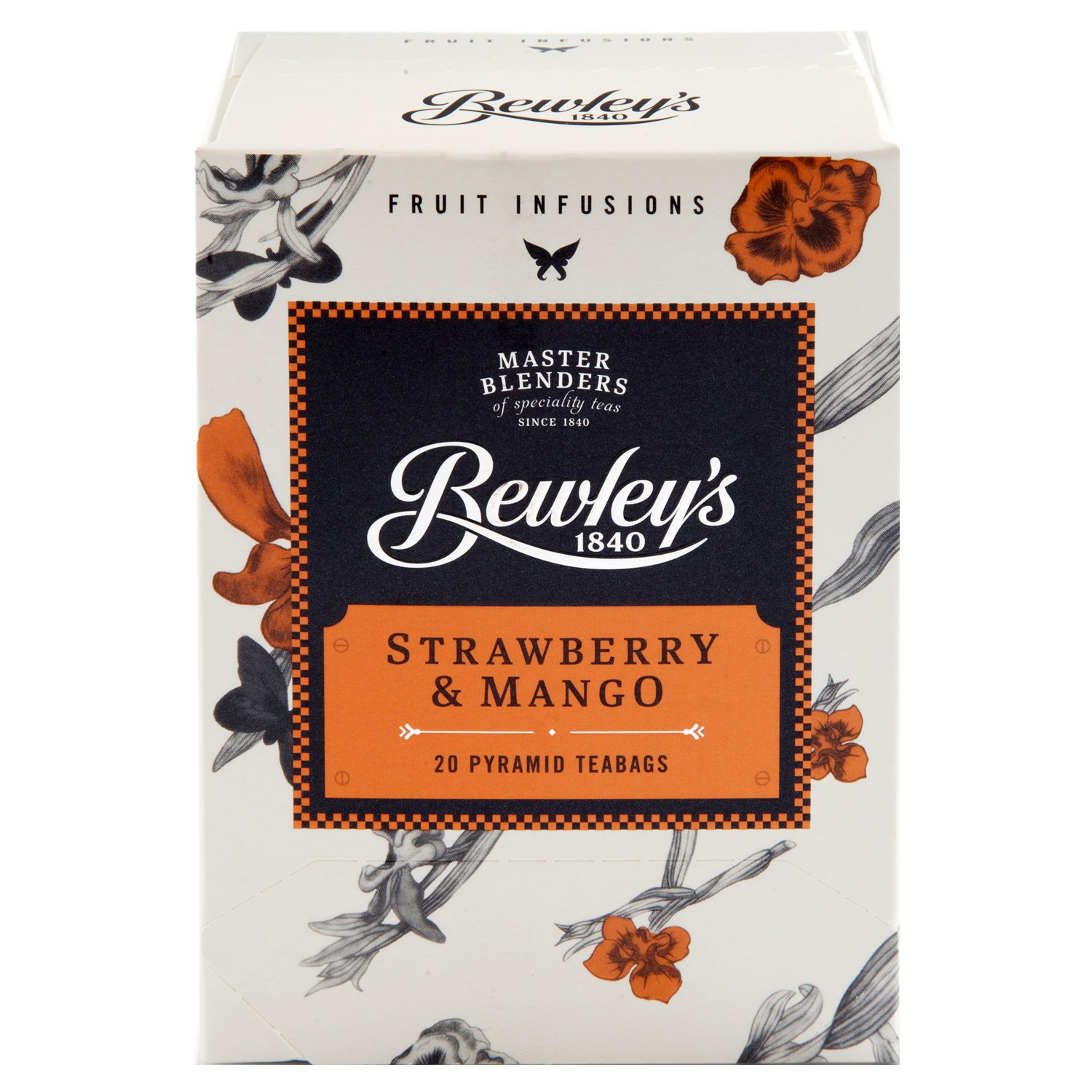 Bewley's Strawberry & Mango Pyramid Teabags – 20 Ct