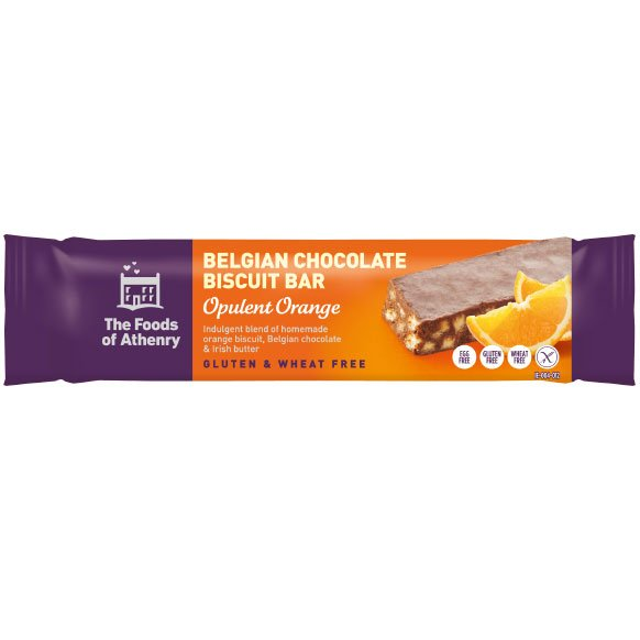Belgian Chocolate Biscuit Bars – Opulent Orange (Pack Of 4 Bars)