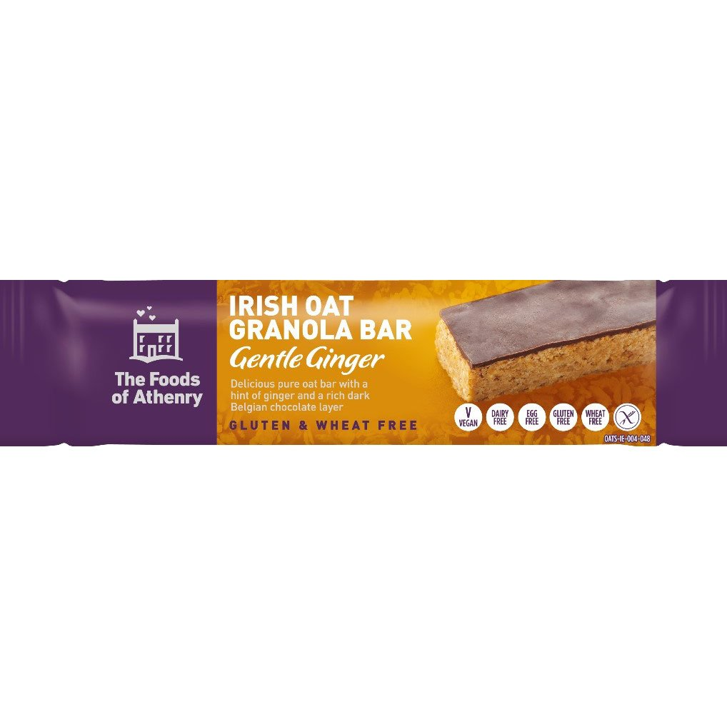 Irish Oat Granola Bars – Gentle Ginger (Pack Of 4 Bars)