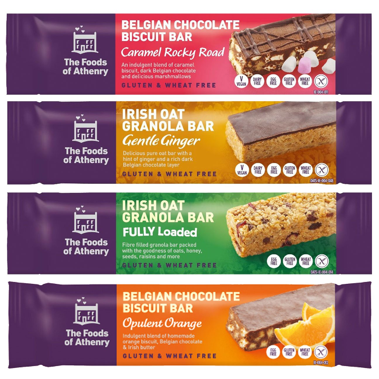 Foods Of Athenry – Variety Pack Of 4 Snack Bars