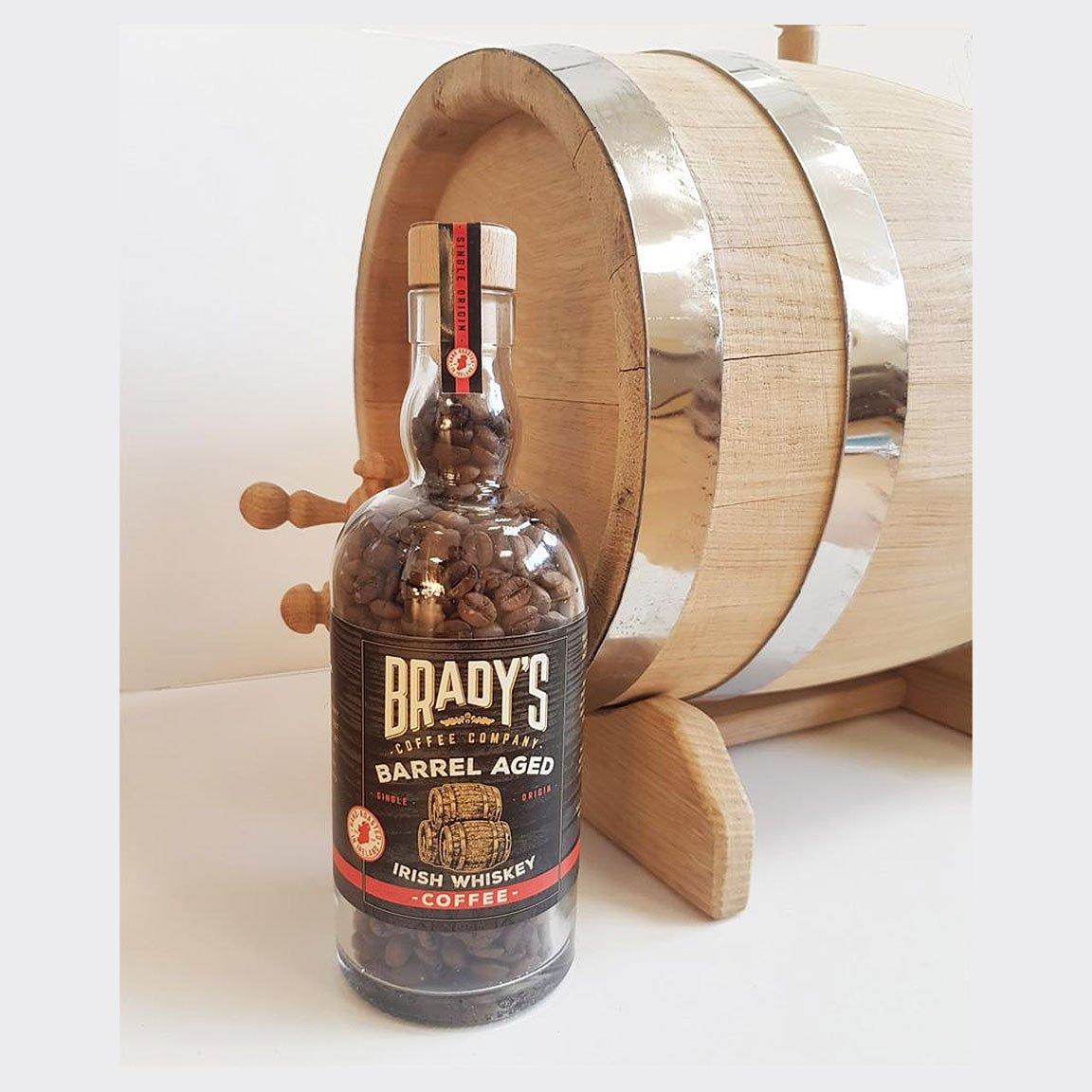 Brady's Barrel Aged Irish Whiskey Coffee Beans In Bottle